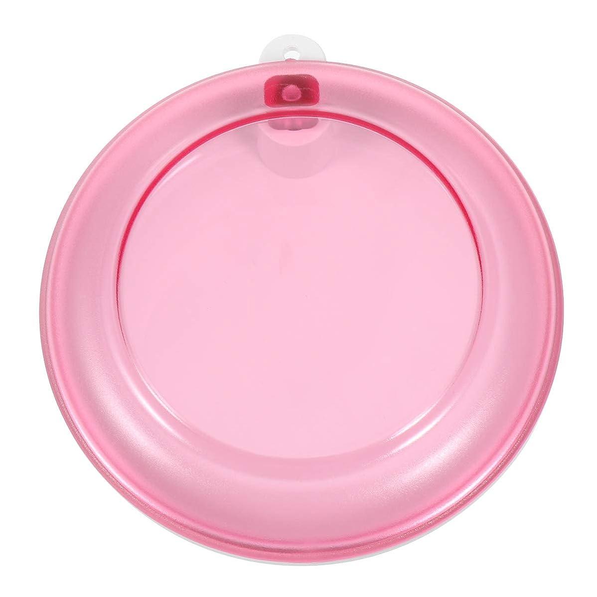 米ドル包括的不規則なHealifty 義歯ボックスポータブル回転歯収納ボックス(ピンク)