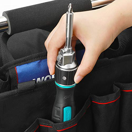 DOUBLEDRIVE Ratcheting Screwdriver Set - 2X Faster, 37-piece Repair Tool Kits for Laptop, PC, Furniture, DIY Hand Work
