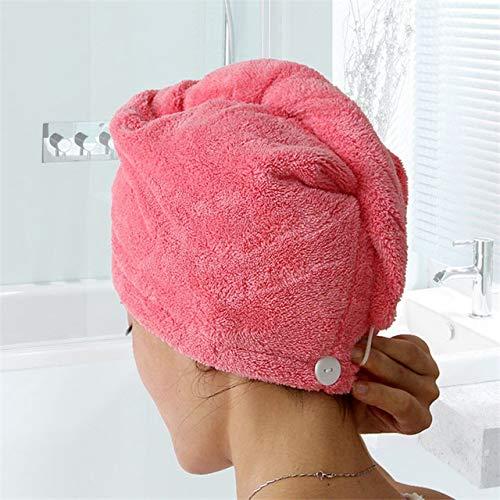 IAMZHL Damenhandtücher Bad Mikrofasertuch Schnelltrocknendes Haar Handtuch Badetücher Für Erwachsene toallas Mikrofaser toalha de banho-RoseRed-25x65cm