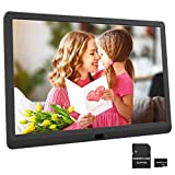 HD 1920x1080 Digital Photo Frame 10 Inch Digital Picture Frame Include 32GB SD Card, Supports Photo Auto-Rotate, Auto Play, Auto Power On/Off, Background Music, Calendar