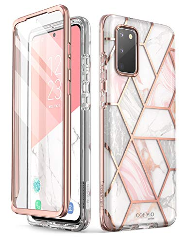 i-Blason Cosmo Case for Samsung Galaxy S20 FE 5G (2020 Release), Slim Stylish Protective Bumper Case With Built-in Screen Protector (Marble)