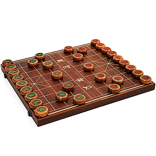 SASAU Minimalist Chinese Chess Tournament Wooden Crafted Classic Chinese Chess Party Games Travel Jogos Tabuleiro Chess Games (Color : Chess piece 5cm)