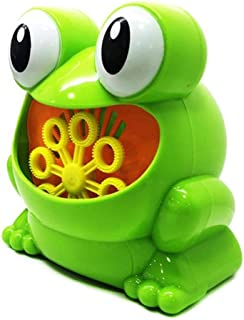 Cute Frog Automatic Bubble Machine Blower Maker Party Summer Outdoor Toy for Kids Wholesale