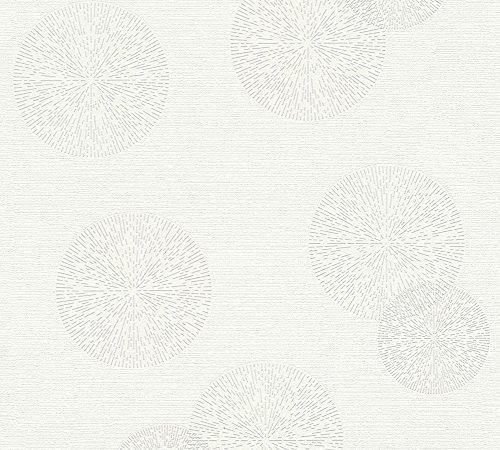A.S. Création Vliestapete Happy Spring Tapete 10,05 m x 0,53 m grau weiß Made in Germany 347711 34771-1
