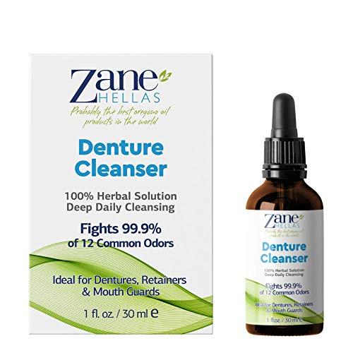 Zane Hellas protesrengöring. Oregano Oil Power. Perfekt för proteser, hållare, hängslen, munskydd. Hjälper till att ta bort plack, tandsten, fläckar och dålig lukt. 100% växtbaserad lösning. 1 fl. Uns. -30 ml.