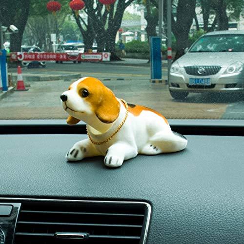 Preisvergleich Produktbild Wei Hongyu Universal Auto Truck Lucky Beagle Hund Puppe Schüttelkopf Ornament Fahrzeug Dekor Spielzeug Sparschwein mit doppelseitigem Klebeband