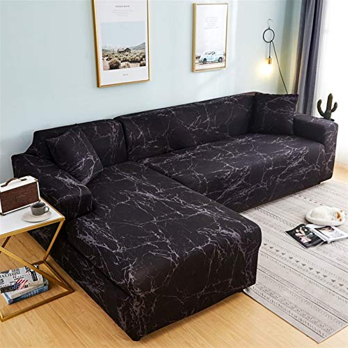 Easy To Install And Comfortable Sofa Cover Sofa Cover,Strip Pattern Stretch Elastic Sofa Covers For Living Room Needs Order Sofa Set (2piece) If Is Chaise Longue Corner Couch Cover