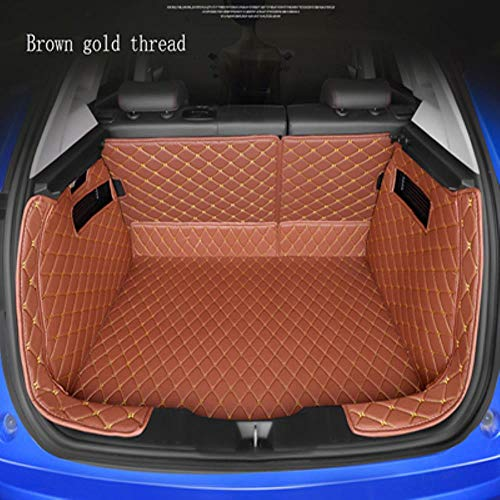 Funda para Maletero De Coche para BMW All Medels X3 X1 X4 X5 X6 Z4 525520 F30 F10 E46 E90 Alfombrilla para Maletero Accesorios Coche Alfombra para Suelo, Hilo De Oro MarróN