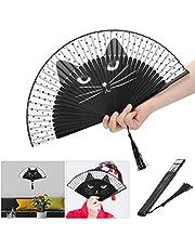 Hoogwaardige materialen, Cartoon Cat Kung Fu-ventilator, draagbare opvouwbare ventilator voor geschenken voor festivaldecoratie,