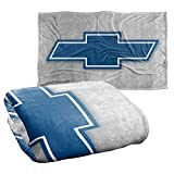 Trevco Chevrolet Simple Vintage Bowtie Silky Touch Super Soft Throw Blanket 36' x 58'