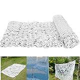 Filet de Camouflage Blanc,Filet de Ombrage Camouflage Une Seule Couche,Tissu Oxford 150D,pour Serre Auvents Terrasse Voile d Ombrage,Taille Personnalisable(6x10m(20x33ft))