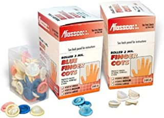Afassco 5015 Medium Blue Finger Cots - 144 / BX