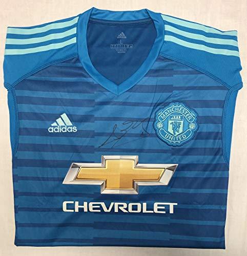 gerahmt SGH SERVICES T-Shirt mit Autogramm Marcus Rashford Manchester United 100/% Baumwolle