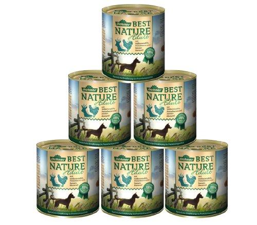 Dehner Best Nature hondenvoer, wild en kip met pasta, Wild en kip met pasta, 6 x 800 g