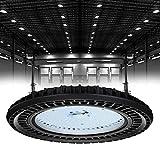 Lámpara industrial LED UFO de 200 W, luz blanca fría, 6000 K, resistente al agua IP65, potente lámpara de taller para taller y fábricas, lámpara de techo industrial