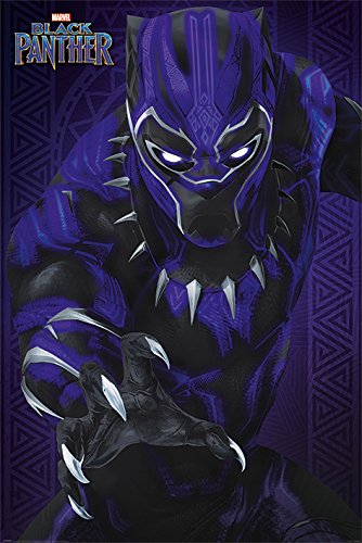 Negro Pantera Glow Póster, Papel, Multicolor, 91,5x 61x 0,03cm