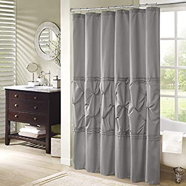 Comfort Spaces – Cavoy Shower Curtain – Gray – Tufted Pattern - 72x72 inches