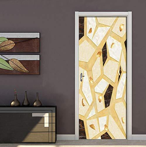 Résumé mármol costuras pegatinas de puerta ventana vinilo pegatina Allah PVC Selbstklebender papel tapiz decoración del hogar remoción mural cartel