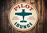Pilot Lounge Sign, Aviation Lounge, Airport Hangout Sign,