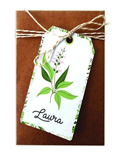 D.I.Y with Toga Oh My Green Lot de 20 Étiquettes Tags avec Ficelle, Autre, Blanc, 4.5 x 8 x 0.1 cm