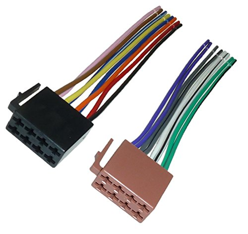 DIN ISO Auto Radio Adaptador Cable Enchufe 16 pin ISO audi OPEL VW BMW Mercedes