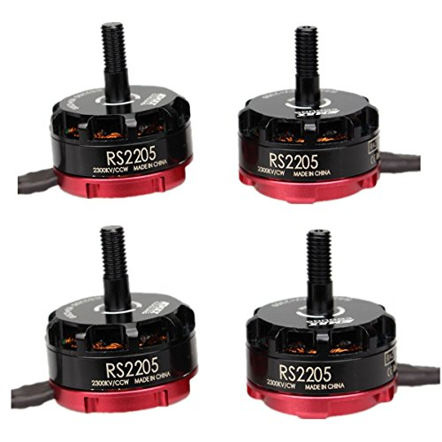 Crazepony-UK 4pcs EMAX RS2205 2300KV Brushless Motor 2CW 2CCW für QAV250 QAV300 FPV Racing Drone Quadcopter