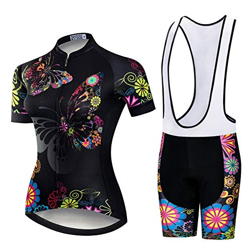 Completo da ciclismo per donna,maglie da ciclismo per ciclismo fuoristrada a maniche corte ad asciugatura rapida ad asciugatura rapida in estate