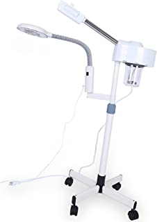 Facial Steamer - Delaman Professional 2in1 Facial Steamer, with 3X Magnifying Lamp, Skin Care, Spa Salon Beauty Equipment