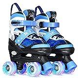 Truwheelz Roller Skates for Kids Boys, Toddler Kid Sequins Roller Skate for Boys Blue, 4 Sizes...