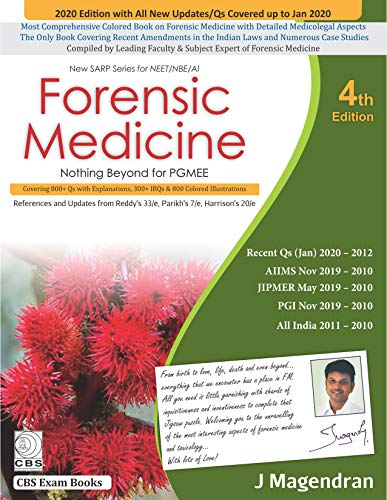 Compare Textbook Prices for Forensic Medicine New SARP Series for NEET/NBE/Al 4 Edition ISBN 9788194523406 by Magendran, J.
