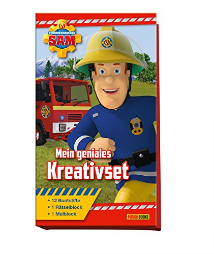Feuerwehrmann Sam: Mein geniales Kreativset: Malblock, Rätselblock, 12 Buntstifte