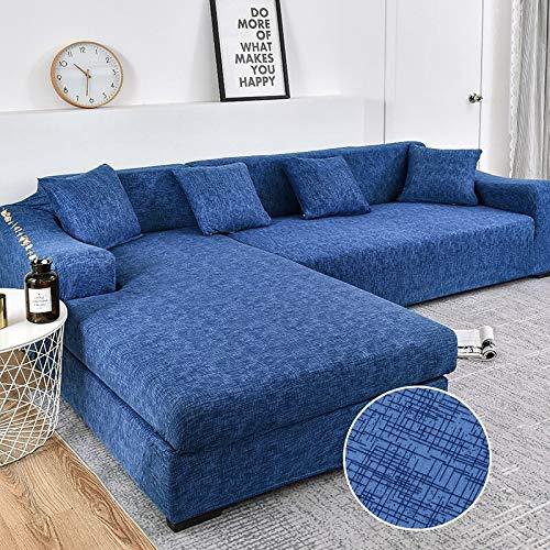 WXQY En Forma de L Necesidad de Comprar 2 Piezas, Esquina de la Sala de Estar Cubierta de sofá elástica elástica Todo Incluido Cubierta de sofá a Prueba de Polvo Toalla de sofá A5 2 plazas