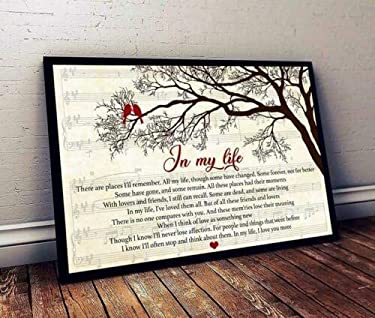 Gift Poster in My Life, The B.e.a.t.l.e.s Lyrics Landscape Paper Poster - No Frame (36x24)