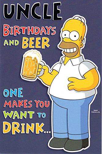 Lizenzprodukt Homer Simpson Geburtstagskarte