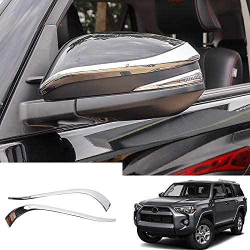 for Toyota 4Runner 2014-2020 Chromed ABS Upper Mirror Rearview Decorative Stripe Cover Trim 2PCS