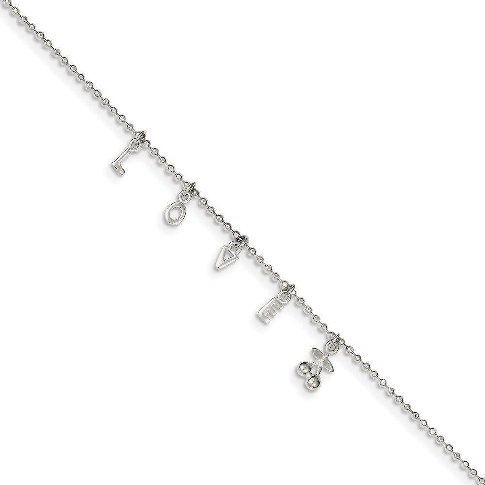 925 Charlotte Mall Sterling Silver Spring Ring Men Anklet 10inch Long Beach Mall for Women