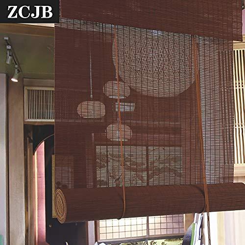Persianas de Bambu Semi-sombreado De Color Café Persiana De Bambú - Casero Cocina Ascensor Persiana Cortina De Sun De Filtrado De Protección Solar, Cortado A La Medida