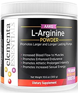Elementa Essentials AAKG L Arginine Alpha Ketoglutarate Powder 300 Grams | Boosts Nitric Oxide and Workout Strength