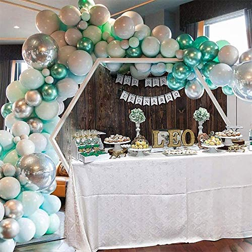 Latex Balloons Tiffany Blue Green Colours Macaron Balloons Garland Arch Kit for Birthday Wedding Baby Shower Graduation Party Decorations