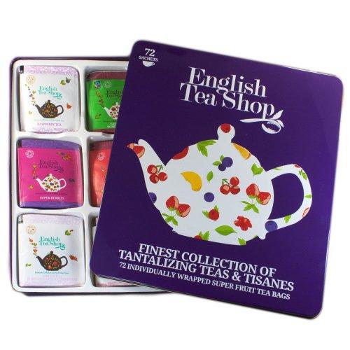 "English Tea Shop - Feine Teekollektion in edler Metalldose, 72 Tees (9x8) ""Super Fruit"" Teegeschenk - (DE-Version)"