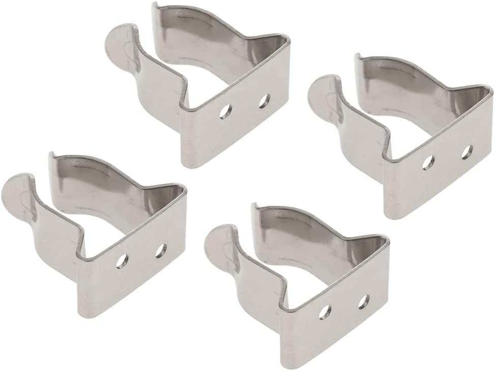 Prettyia 4pcs 304 Steel Marine Boat Minneapolis Mall Hook t Clips Holder 2021 spring and summer new Inch 8 5