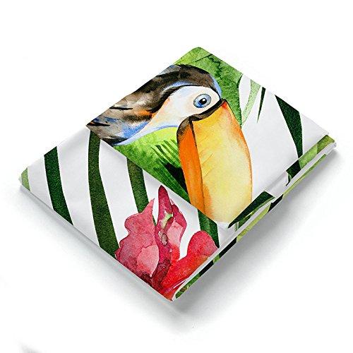 PEIWENIN Rideau de Douche Salle de Bain Polyester moisissure imperméable à l'eau épaississement Isolation Rideau de séparation Motif de Plante, Largeur: 150cm * Hauteur: 180cm