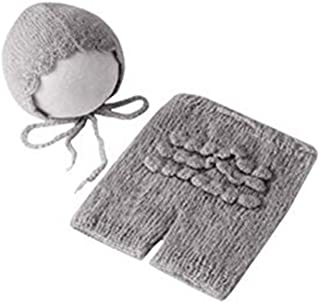 Linberfor Newborn Baby Infant Photography Props Boys Girls Knit Handmade Hat Pants Sets