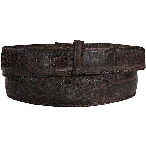 LORD OF LABEL Cintura Band coccodrillo in rilievo marrone scuro Marrone Dunkelbraun