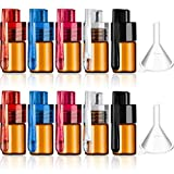 10 Pieces Pocket Spice Bottle with Spoon Sweetener Portable Storage with Plastic Funnels for Containing Spice Sweetener, 5 Colors