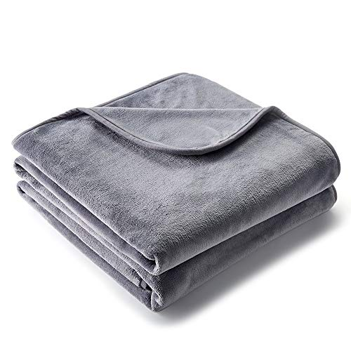 CHEE RAY 100% Waterproof Dog Blanket 38x29 in, Soft Pet Pee Proof Throws for Couch Sofa Bed, Reversible Plush Protector Cover for Small/Medium/Large Dogs Puppies Cats, Light Grey