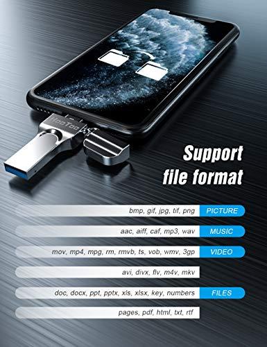 128GBHooTooApple認証取得ライトニングUSBメモリUSB3.0フラッシュドライブLightningコネクタ搭載iPadiPhoneiPodなどに対応128GBHT-IM003