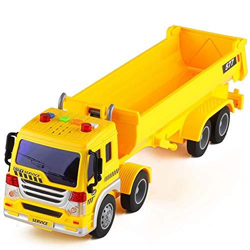 Xolye 8-Rad-Antrieb Kipper-Modell 2 Farben Auflieger Erweiterte Version Dump Truck Toy Inertial Sound- und Lichttechnik Fahrzeug Kind Jungen-Spielzeug-Auto Boxed Großes Spielzeug-Auto-Geschenks