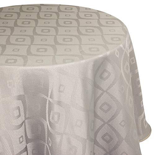 Nappe ovale 180x240 cm Jacquard 100% polyester BRUNCH taupe