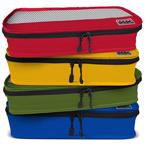 Dot&Dot Slim Packing Cubes for Travel - 4 Piece Best Assorted Luggage Accessories Organizers